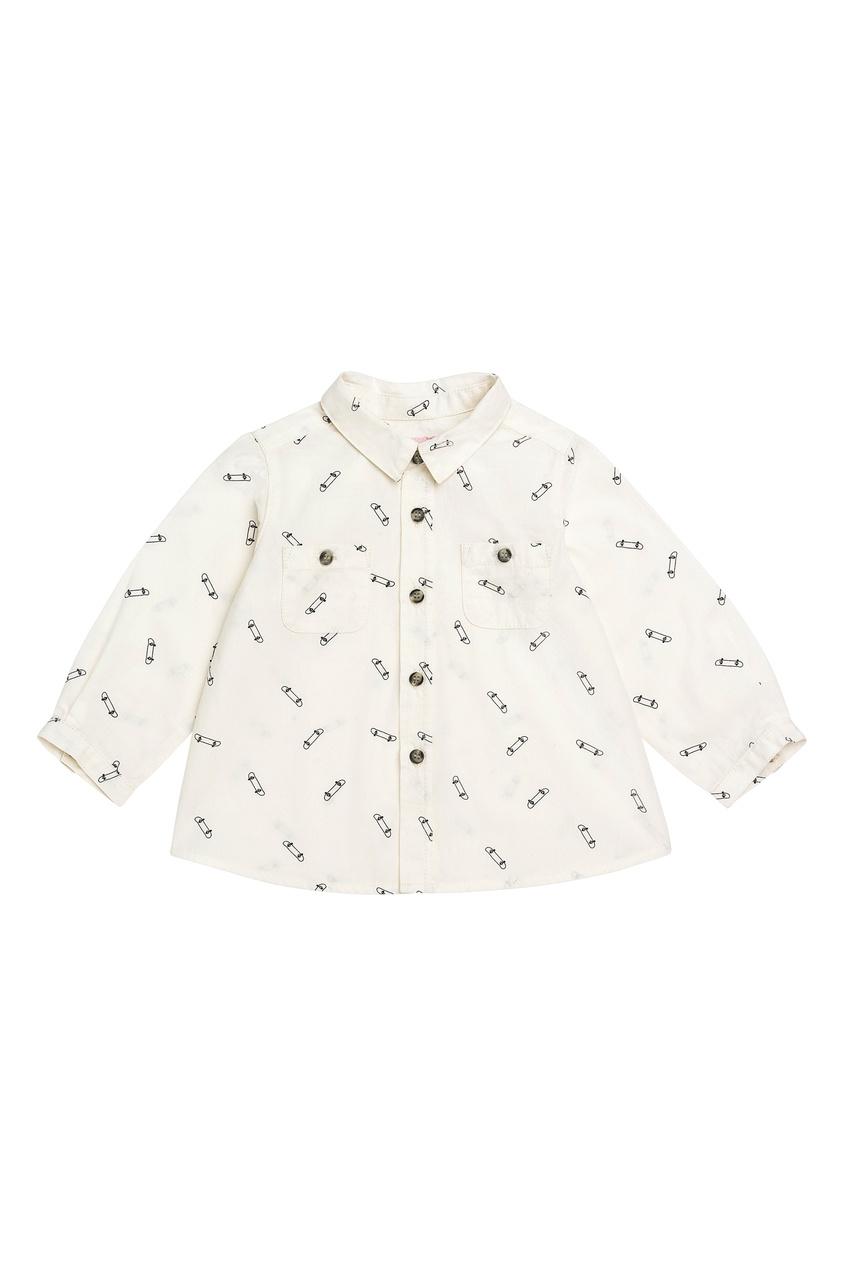 Bonpoint | белый Белая рубашка с узором | Clouty