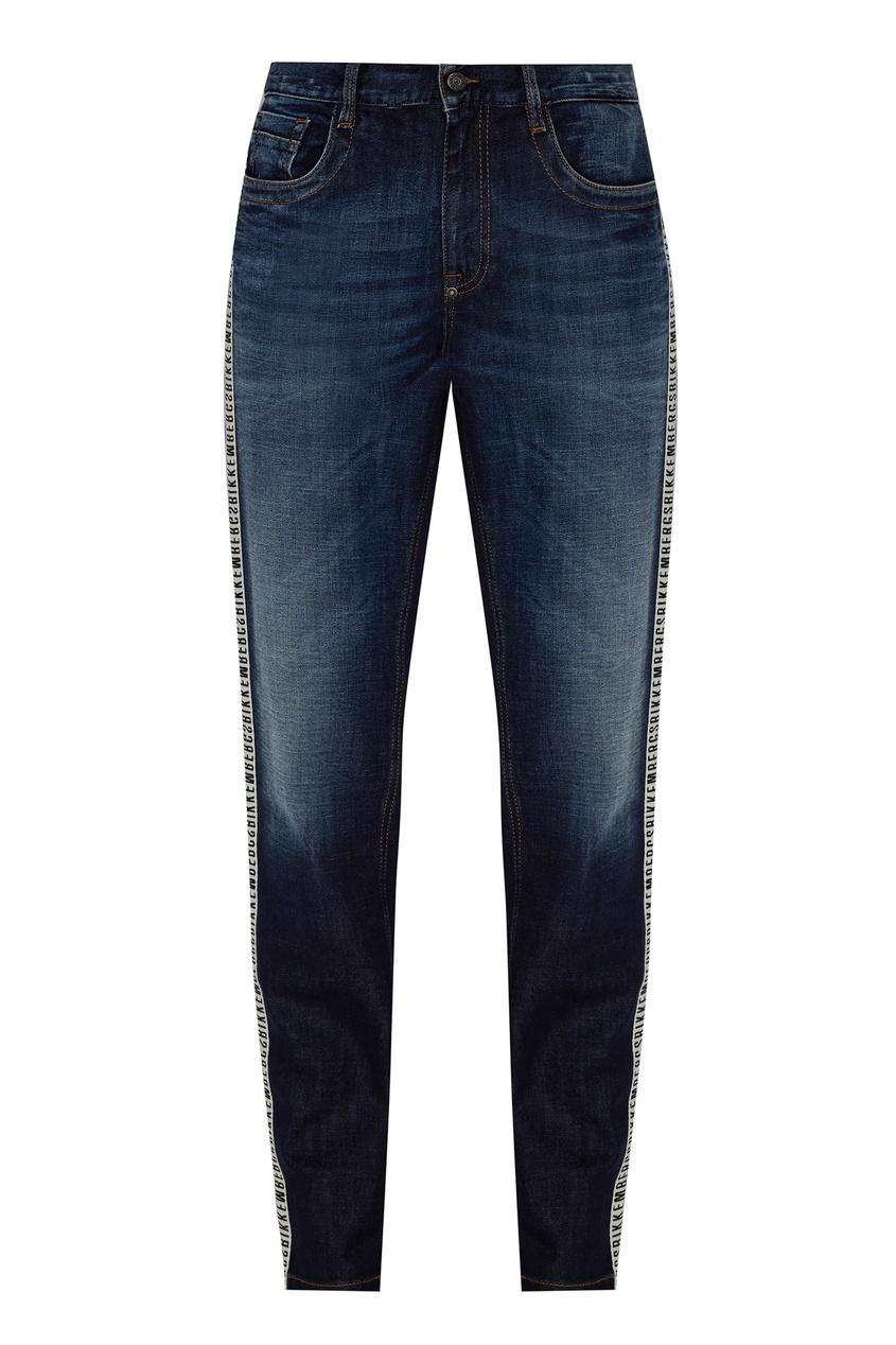 Bikkembergs   синий Синие зауженные джинсы   Clouty