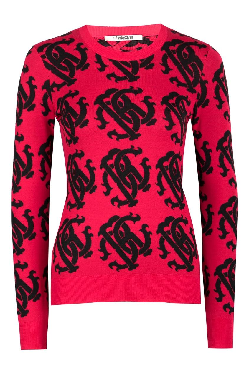 Roberto Cavalli | красный Пуловер цвета фуксии | Clouty