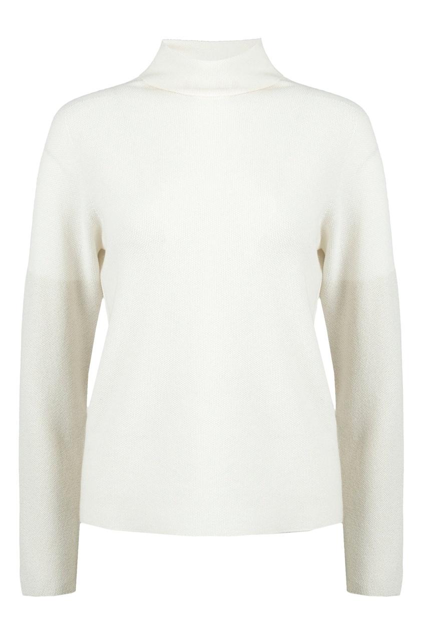 Fabiana Filippi | Белый пуловер из шерстяного трикотажа | Clouty