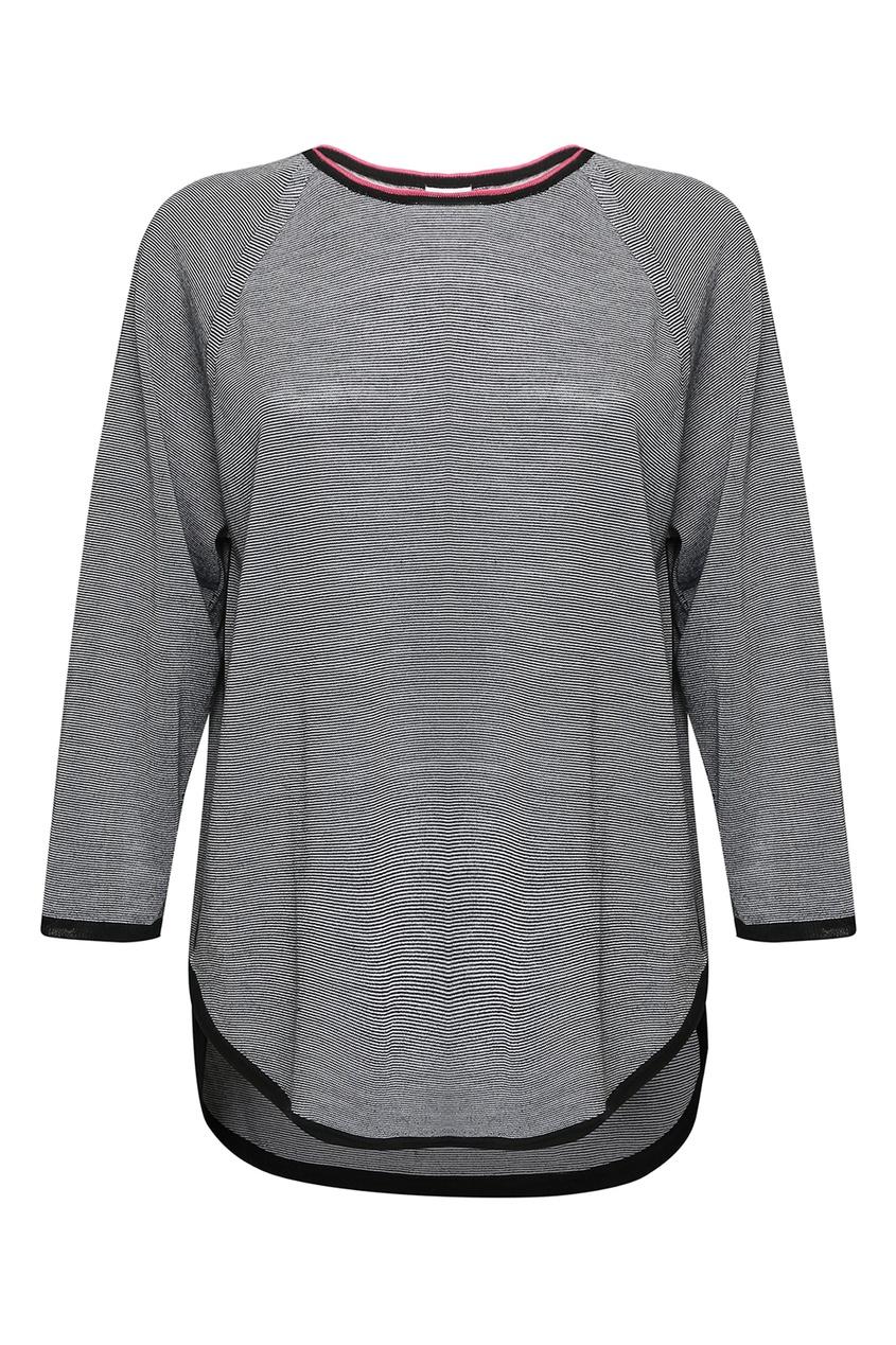 Marina Rinaldi | серый Джемпер с контрастной отделкой | Clouty