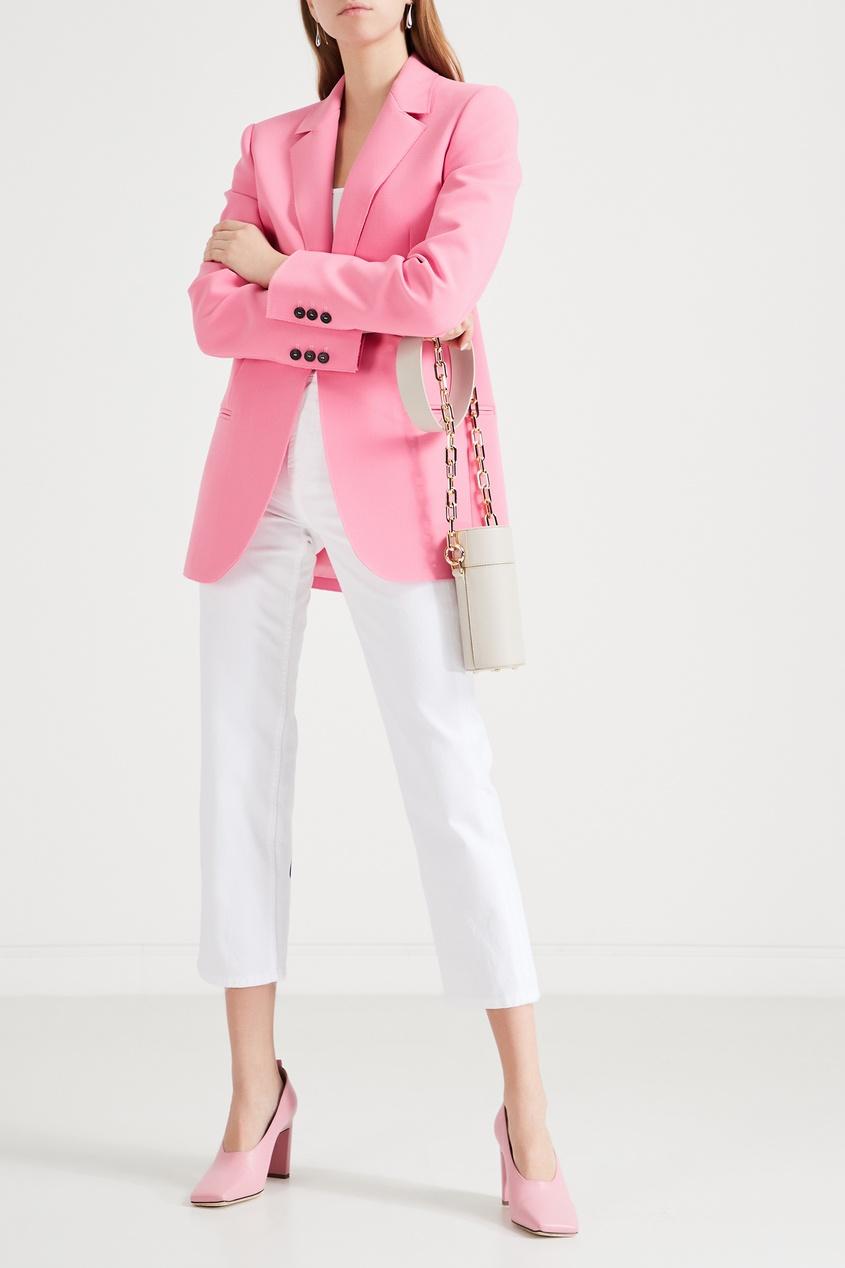 MSGM | Розовый однобортный жакет | Clouty