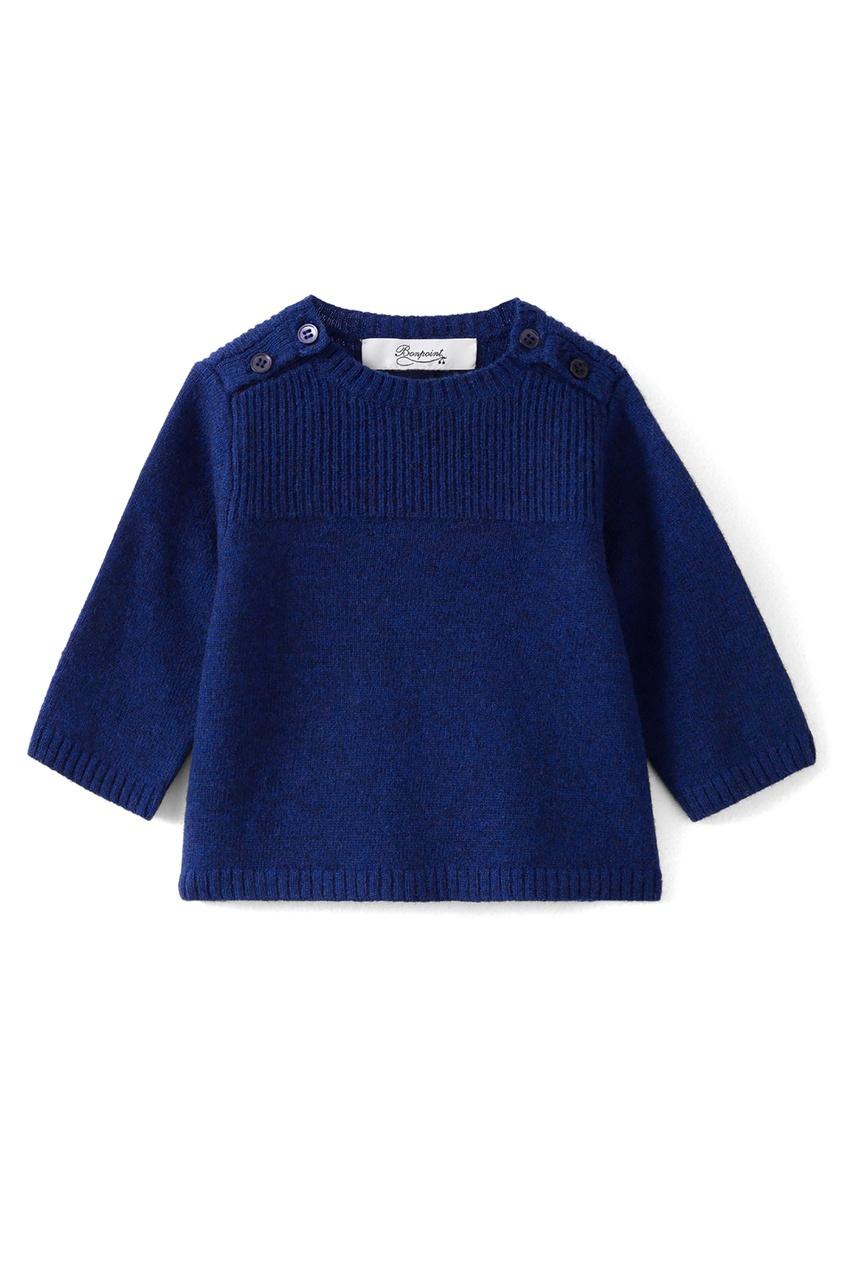 Bonpoint | Синий шерстяной свитер | Clouty