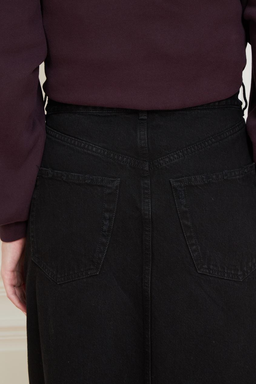 Balenciaga | черный Черная юбка из денима | Clouty