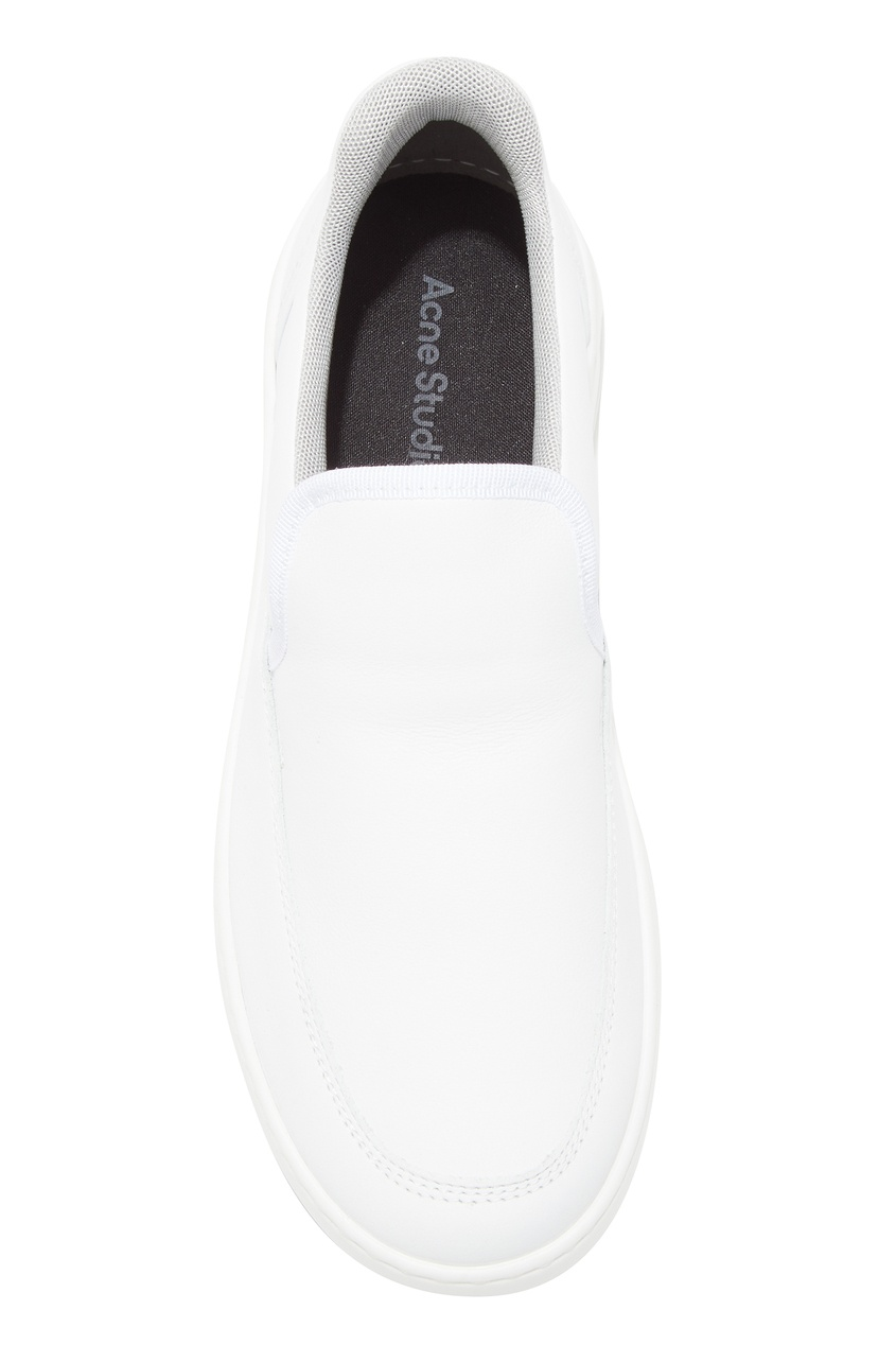Acne Studios   белый Белые кожаные слипоны   Clouty