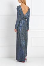 Фото Шелковое платье с пайетками
