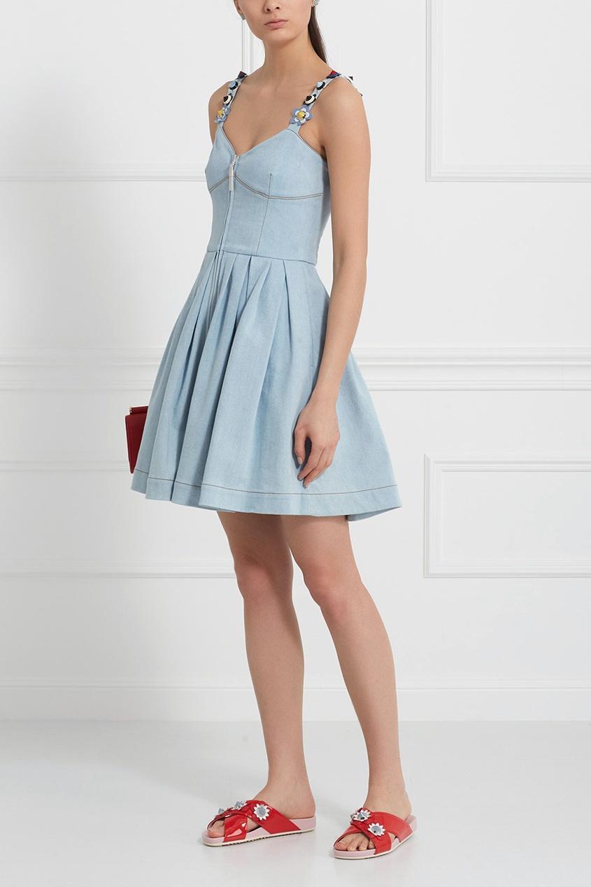 FENDI   Голубой Платье из денима   Clouty