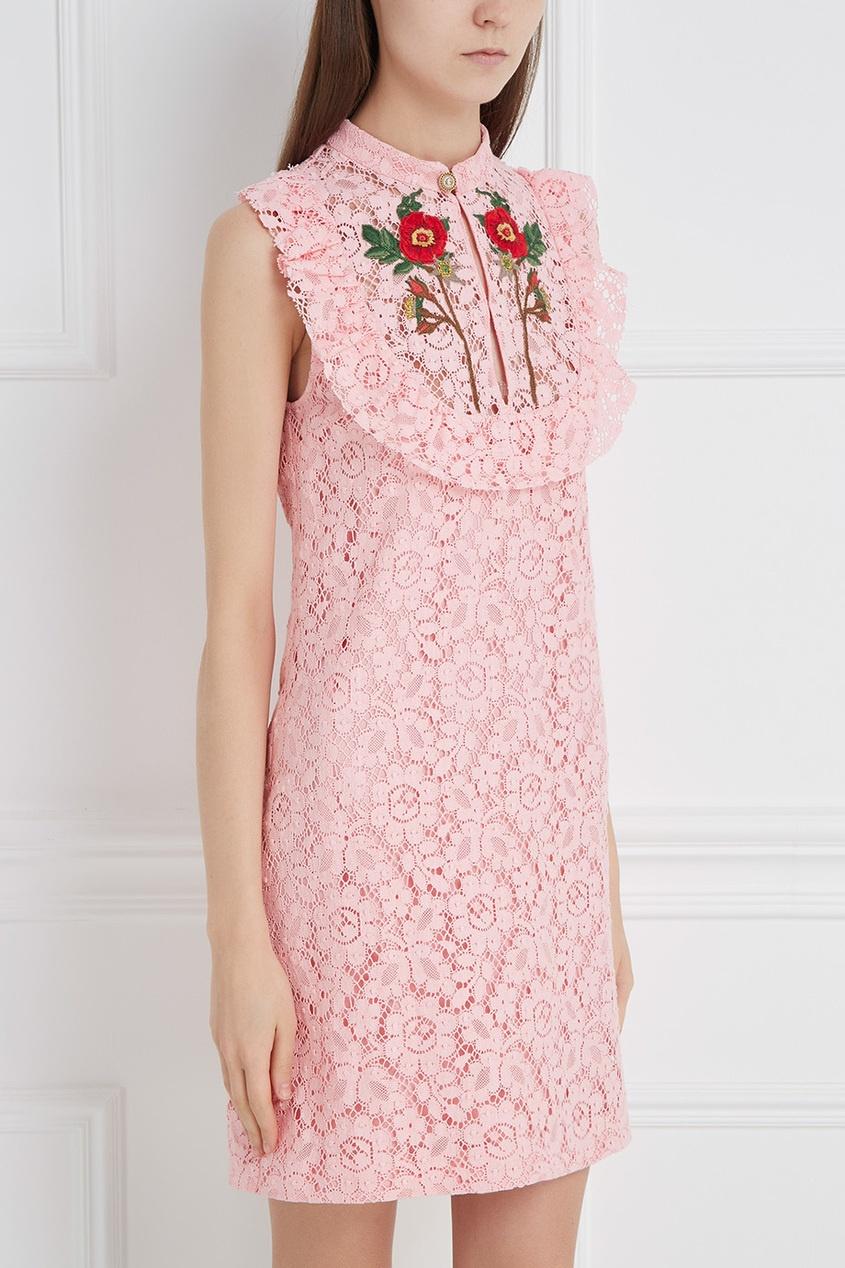 GUCCI | розовый Хлопковое платье | Clouty