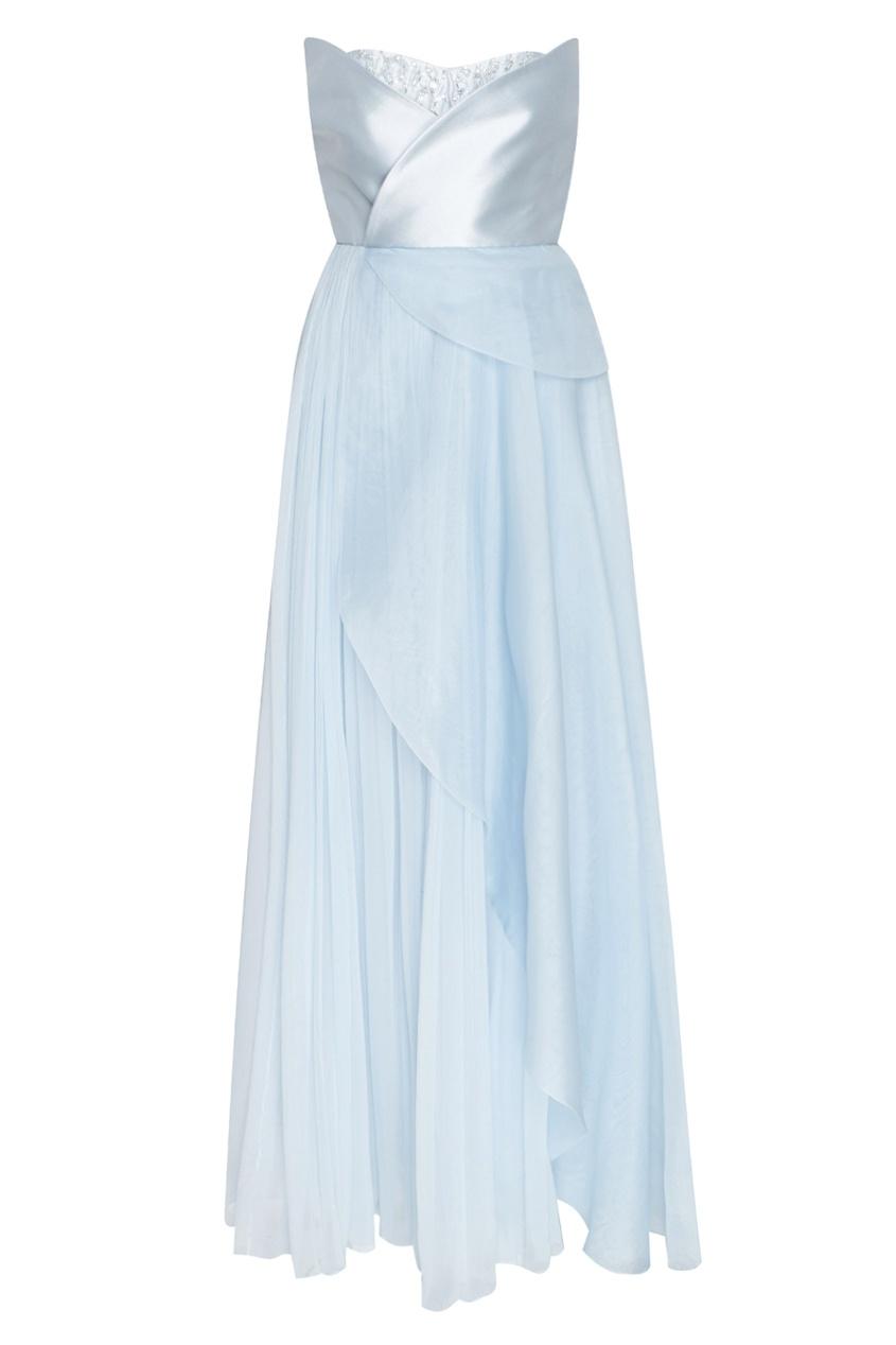 EDEM | голубой Шелковое платье | Clouty
