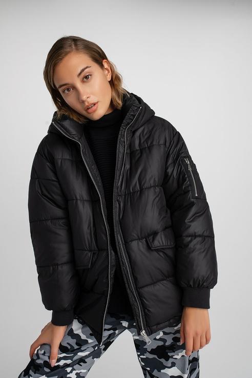 Befree | befree Дутая oversize куртка с капюшоном | Clouty