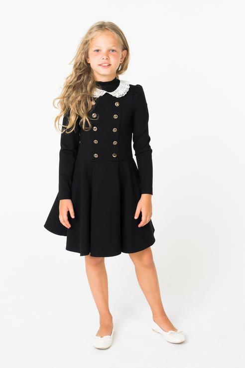Маленькая Леди | Маленькая Леди Платье со съёмным воротником | Clouty