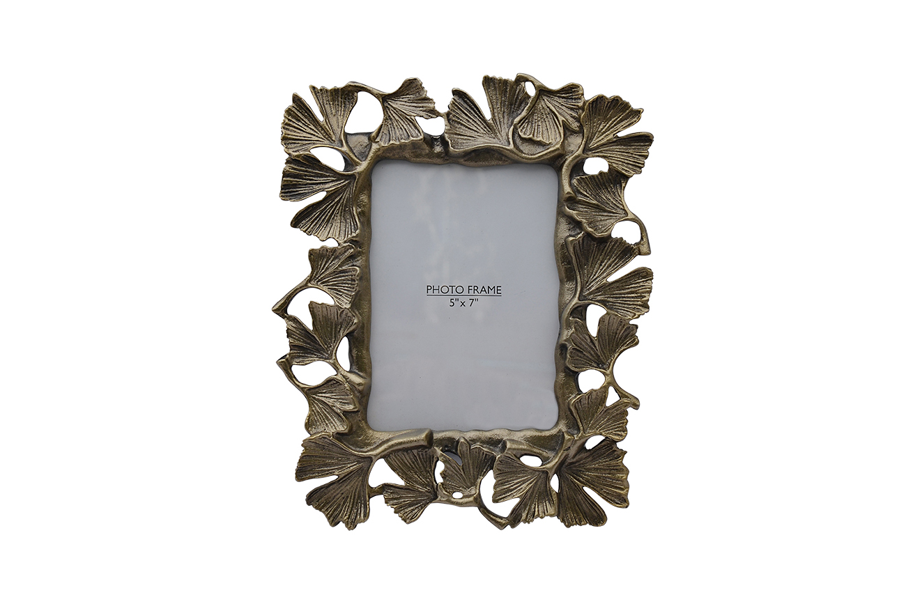 Inmyroom | Фоторамка декоративная гинкго из металла | Clouty