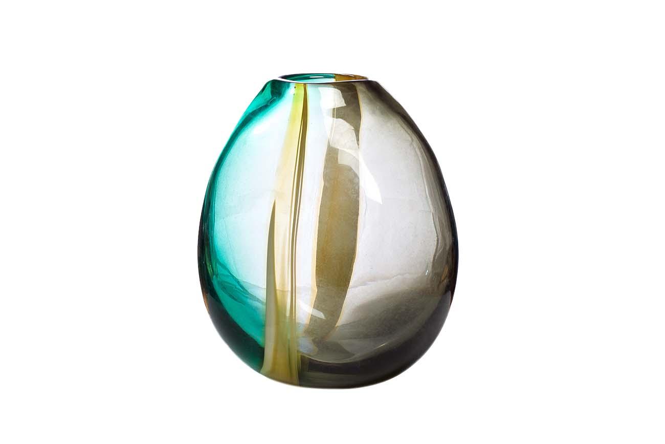 Inmyroom | Ваза стеклянная желто-зеленая | Clouty