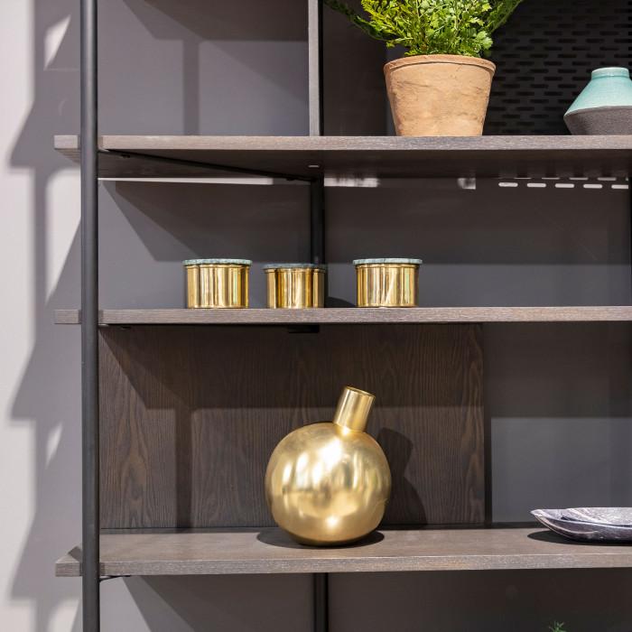 Inmyroom | Ваза металлическая фервик золотого цвета | Clouty