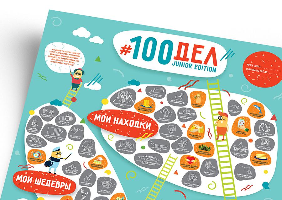 Inmyroom | Интерактивный постер 100 дел Junior Edition | Clouty