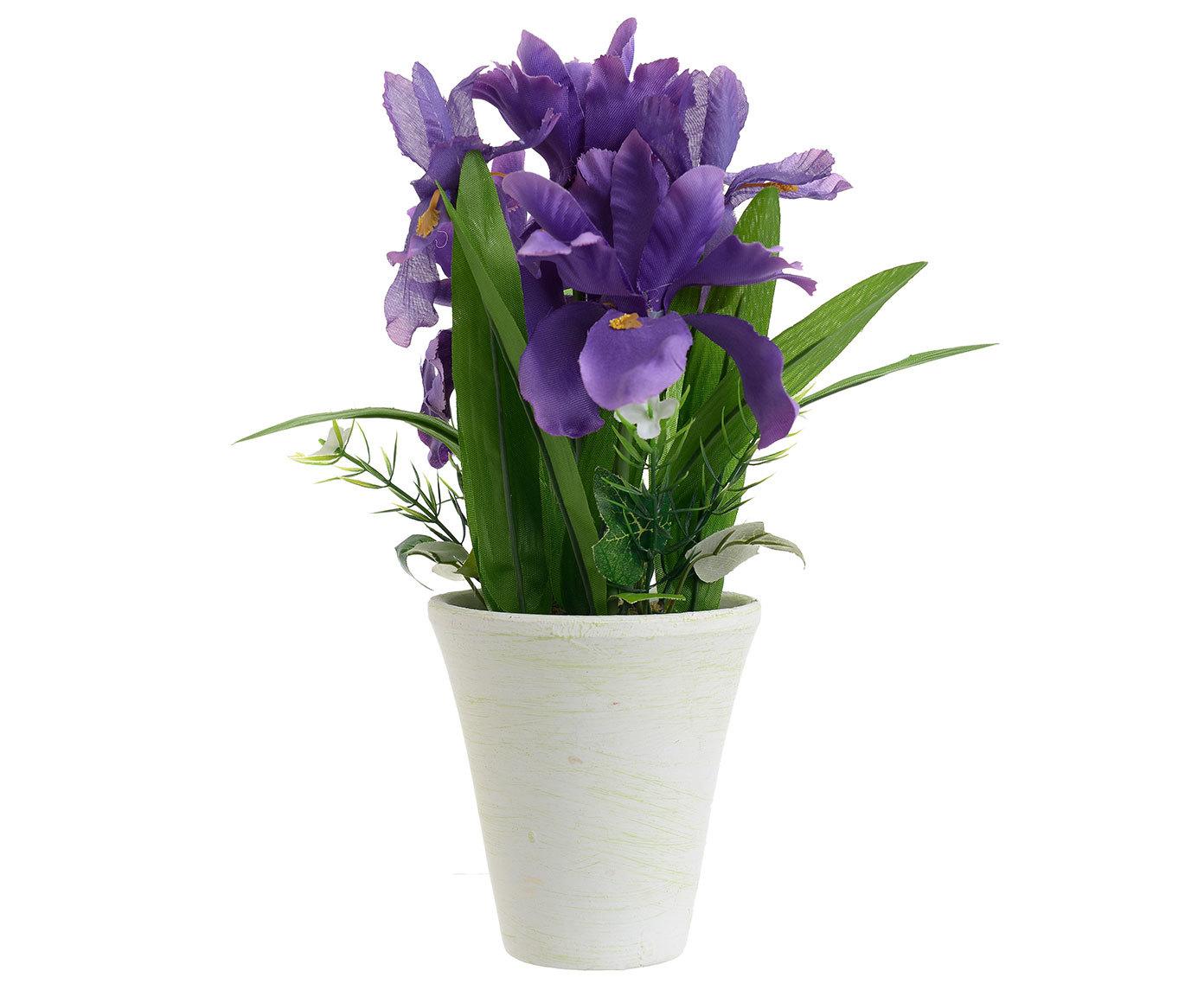 Inmyroom | Искусственный цветок в белом кашпо | Clouty