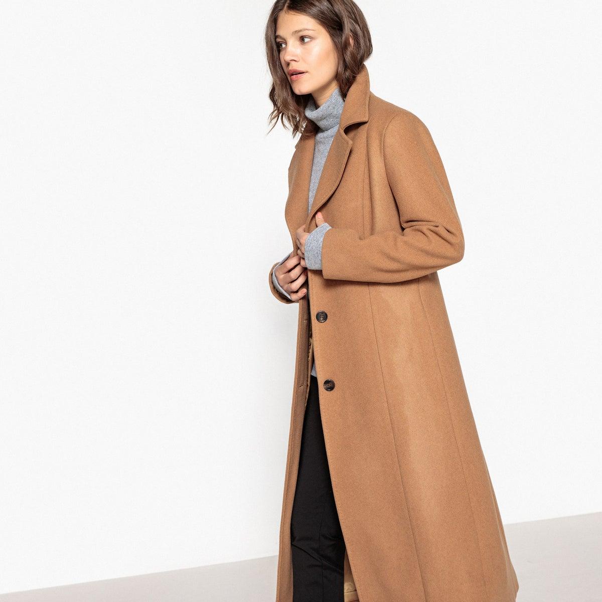 74779deada4 Длинное пальто из шерстяного драпа CL000016928639 - цена 4850 руб ...