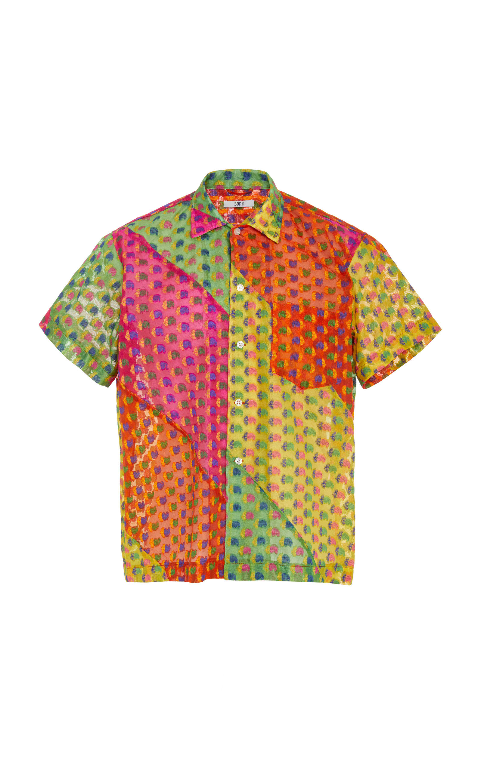 BODE | BODE Multicolored Printed Silk-Blend Shirt | Clouty