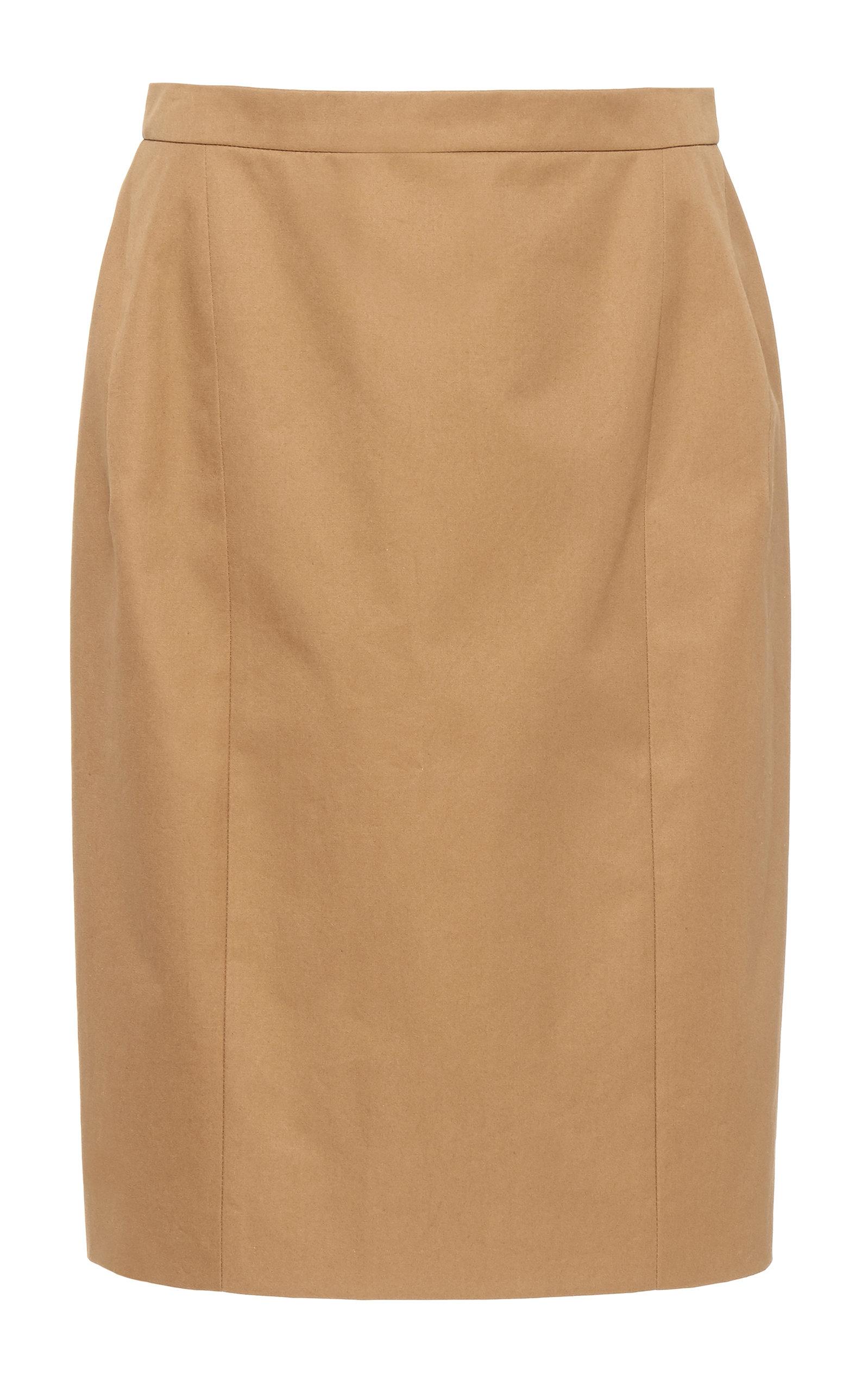 Delpozo | DELPOZO Cotton-Twill Pencil Skirt | Clouty