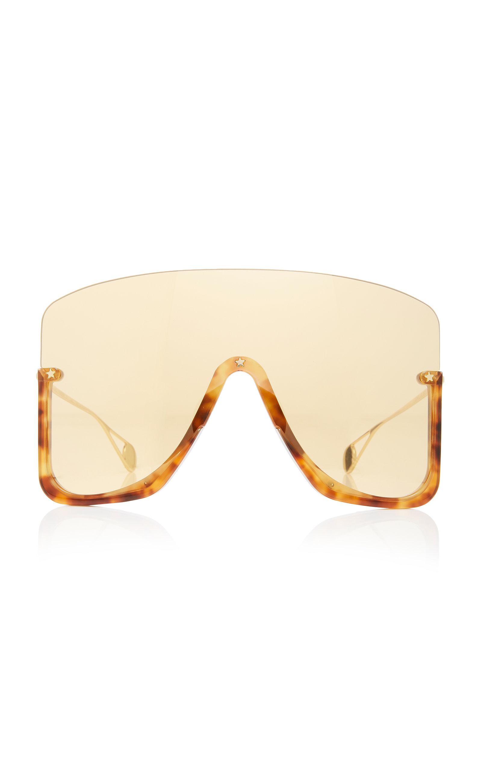 GUCCI | Gucci Oversized Acetate Shield Sunglasses | Clouty