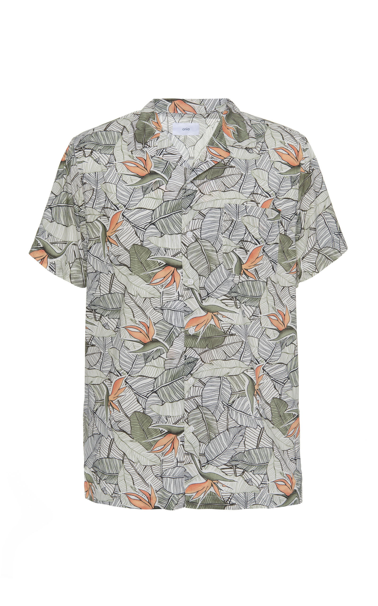 Onia | Onia Vacation Printed Cotton-Blend Shirt | Clouty