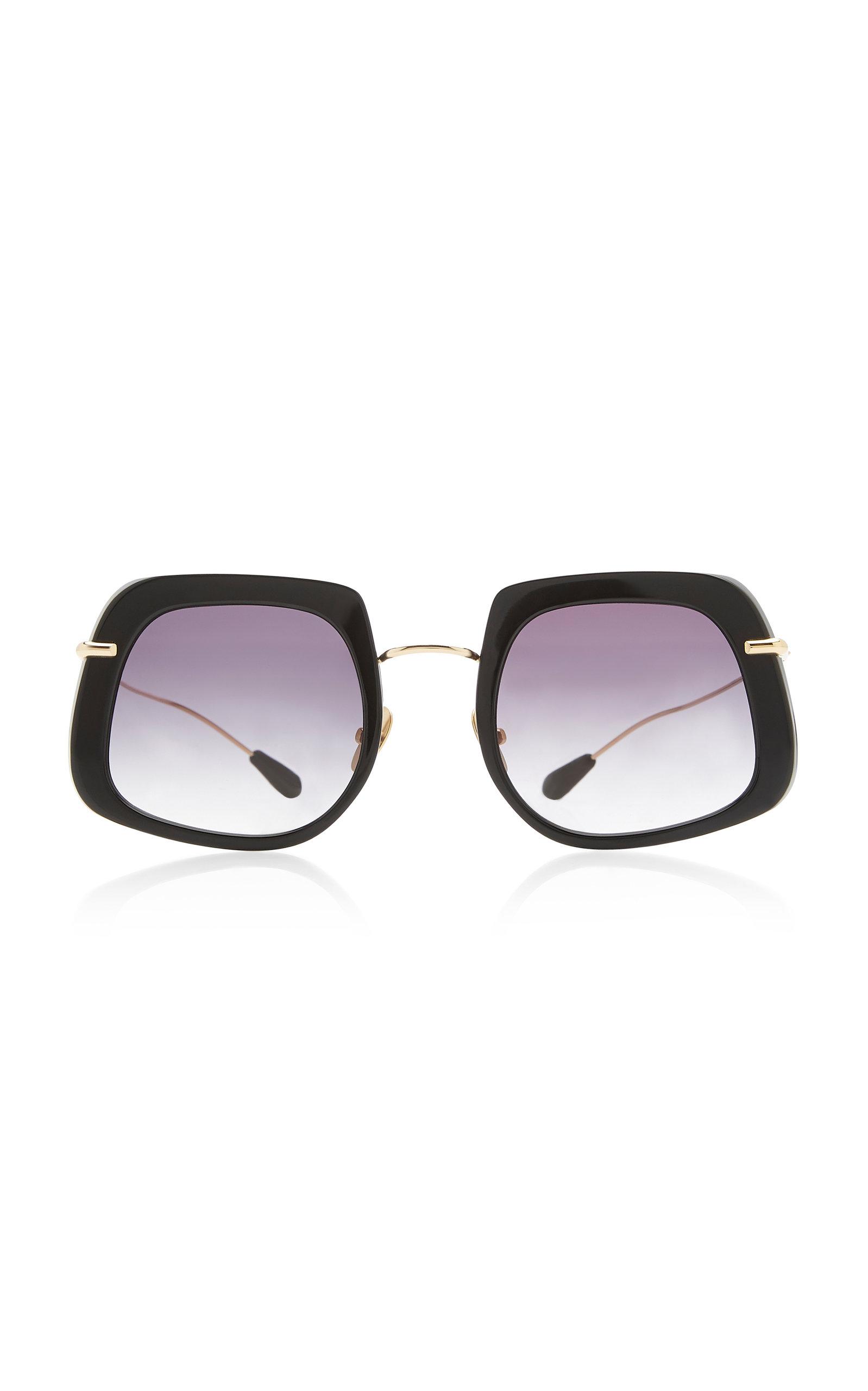 Kaleos Eyehunters | Kaleos Eyehunters Barton Square-Frame Titanium Sunglasses | Clouty