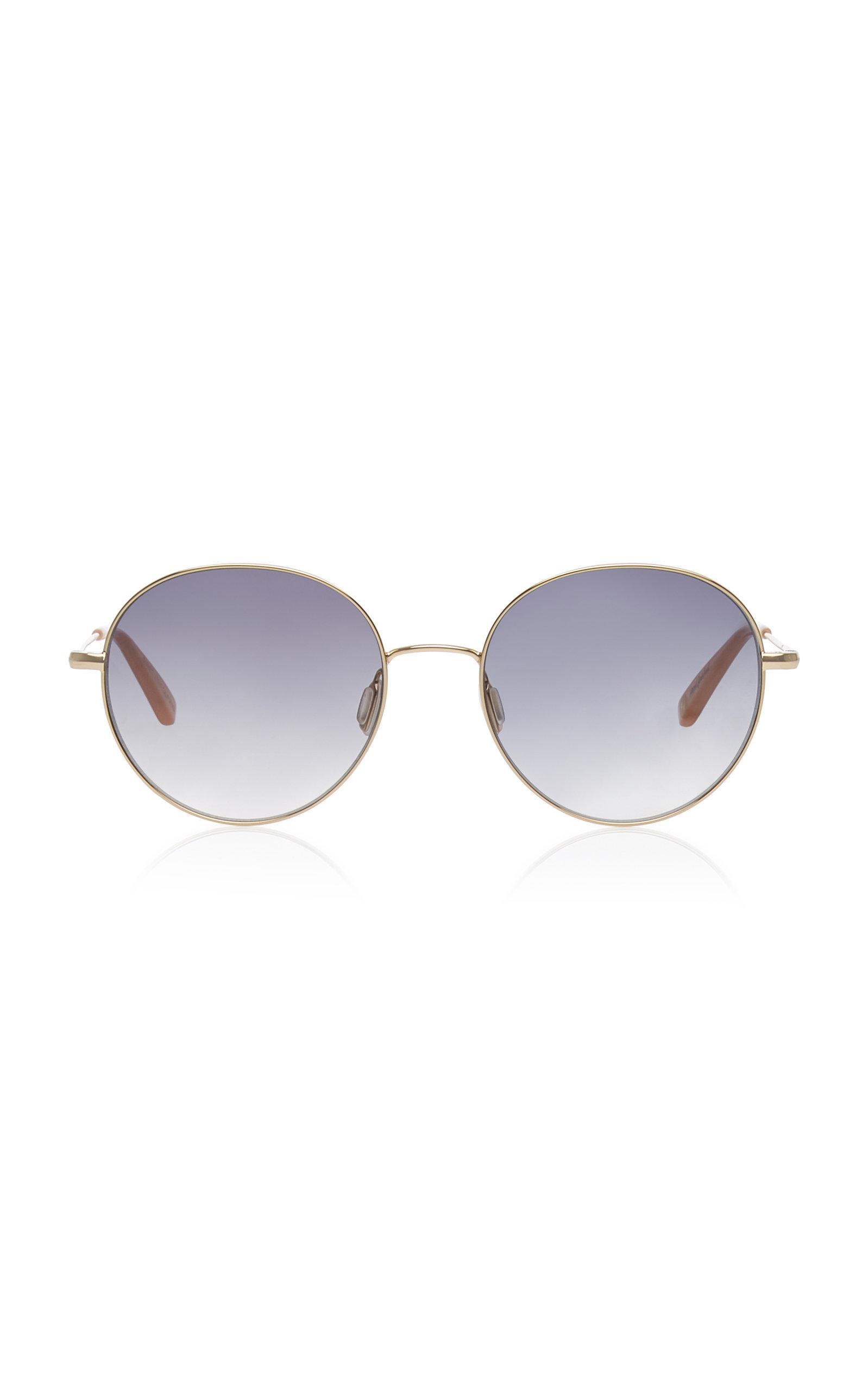 Garrett Leight | Garrett Leight Valencia 54 Stainless Steel Round-Frame Sunglasses | Clouty