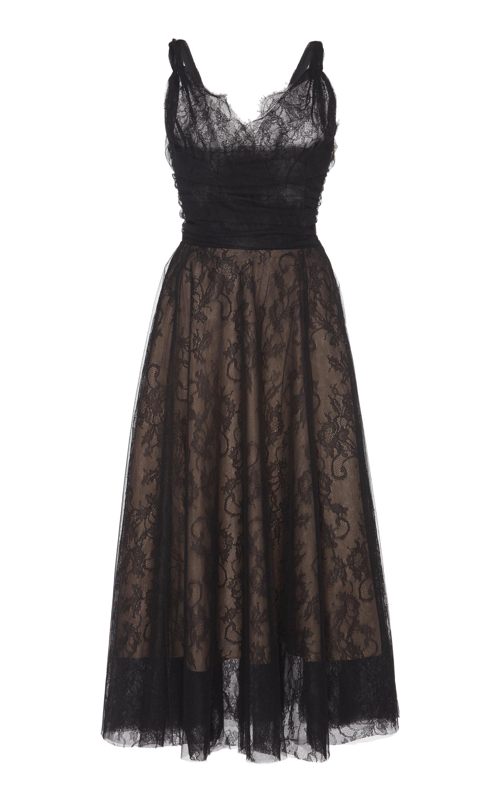 Rochas   Rochas Chantilly Lace MidI Dress   Clouty