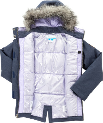 Columbia | Куртка утепленная для девочек Columbia Barlow Pass 600 TurboDown | Clouty
