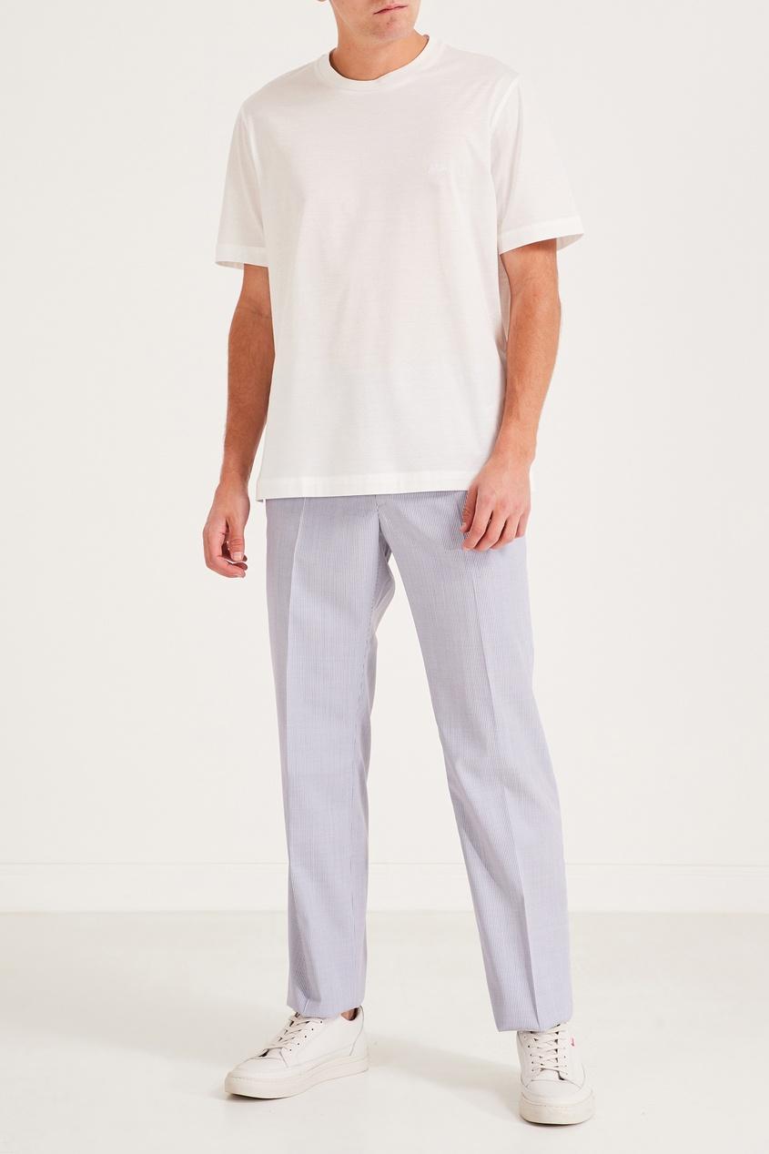 Brioni | белый Мужская футболка Brioni белого цвета | Clouty