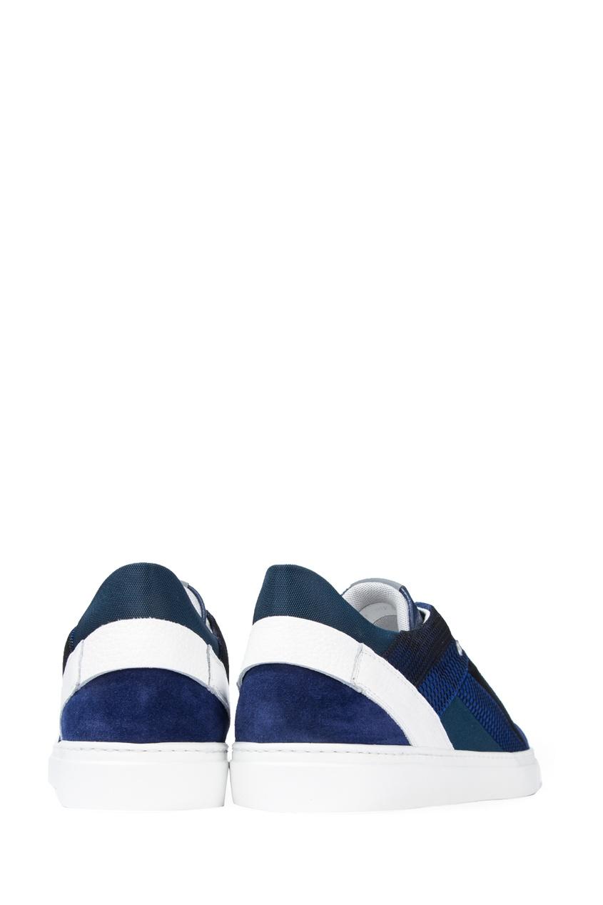 Bogner | синий Комбинированные синие кеды | Clouty