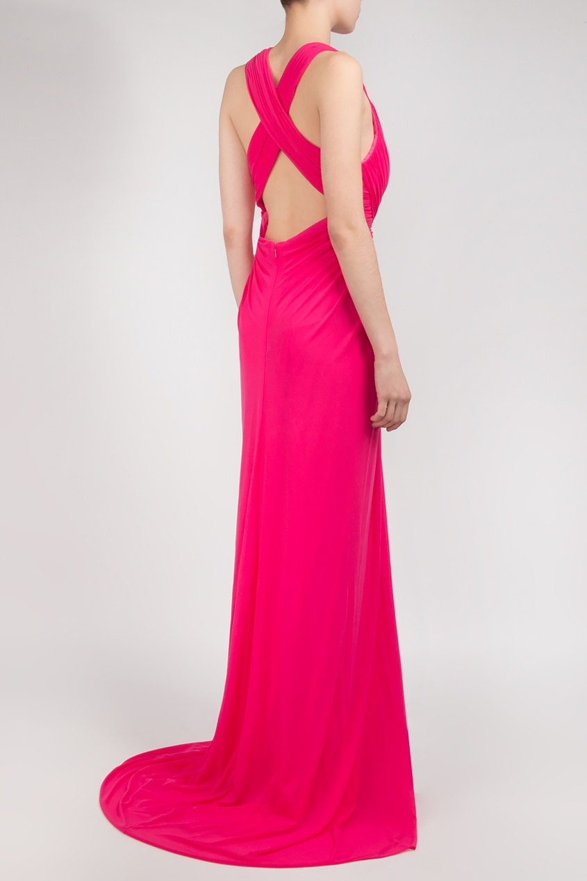 Forever Unique | розовый Платье цвета фуксии | Clouty