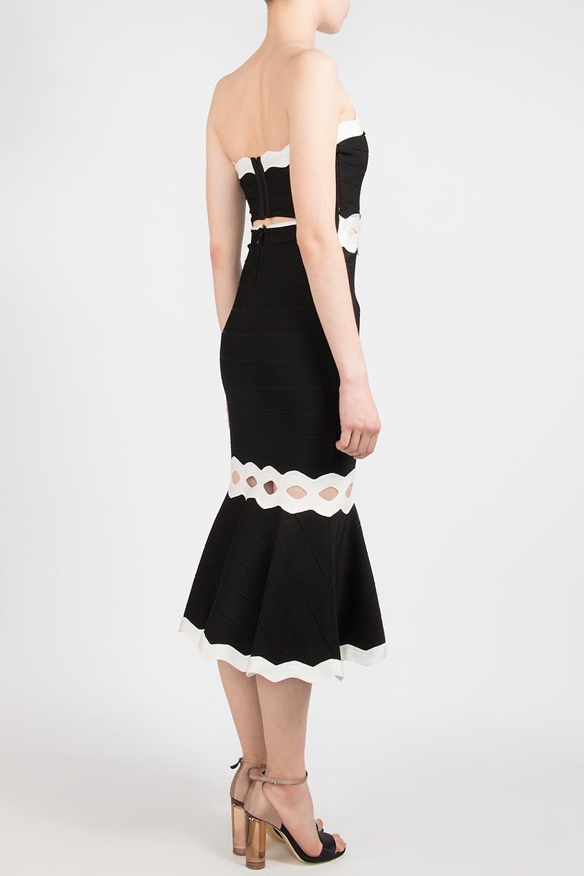 Forever Unique | черный Черное платье-бюстье | Clouty