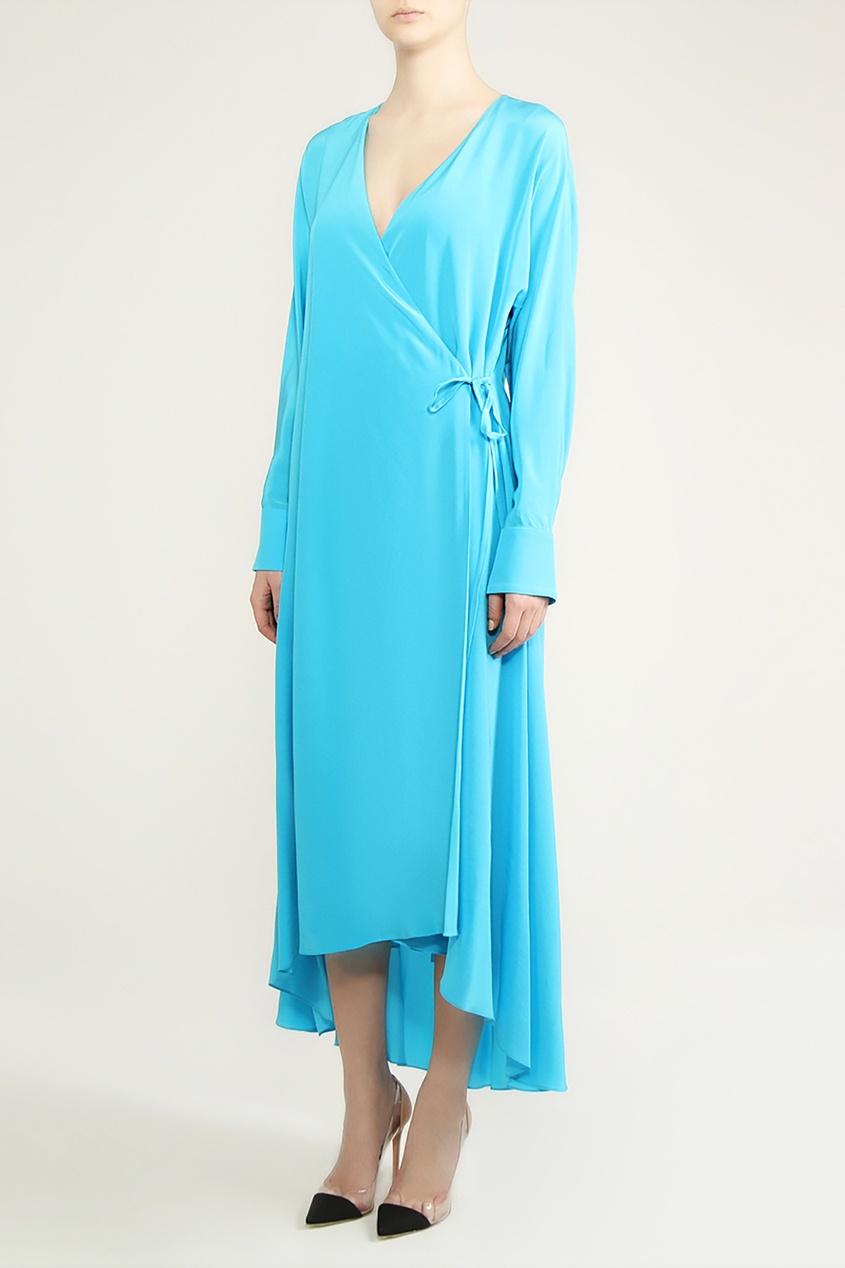 Alexander Terekhov | бирюзовый Бирюзовое платье на запах | Clouty