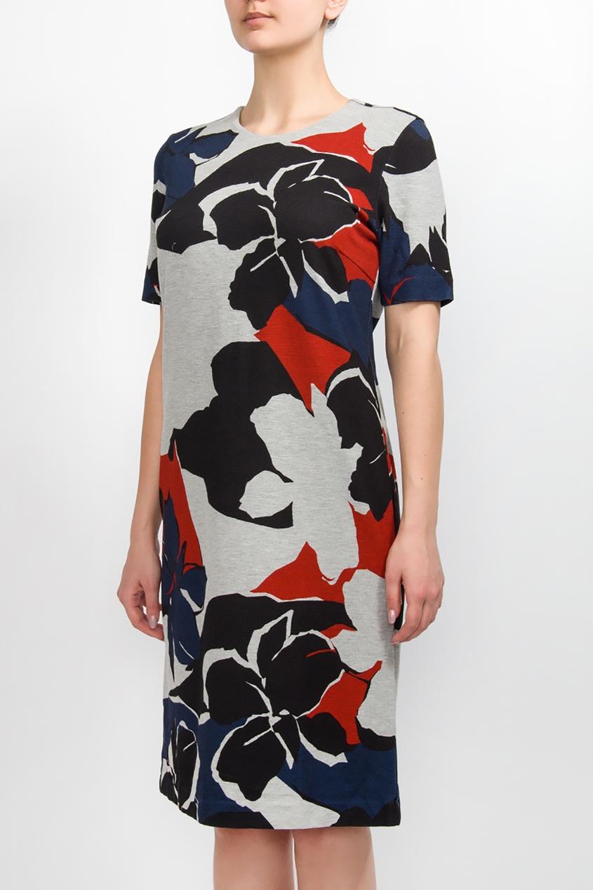 BOSS | Multicolor Разноцветное трикотажное платье | Clouty