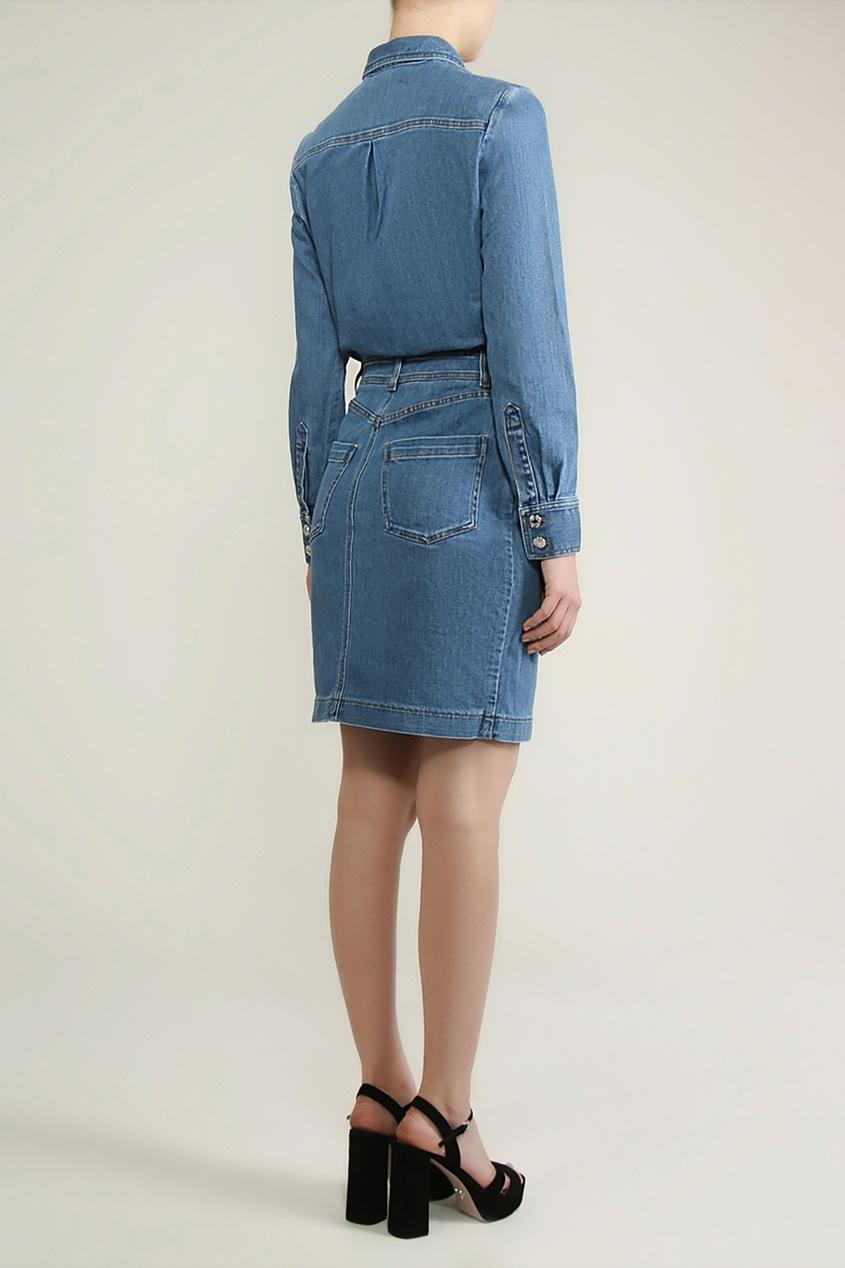 Alexander Terekhov   голубой Синее джинсовое платье с карманами   Clouty