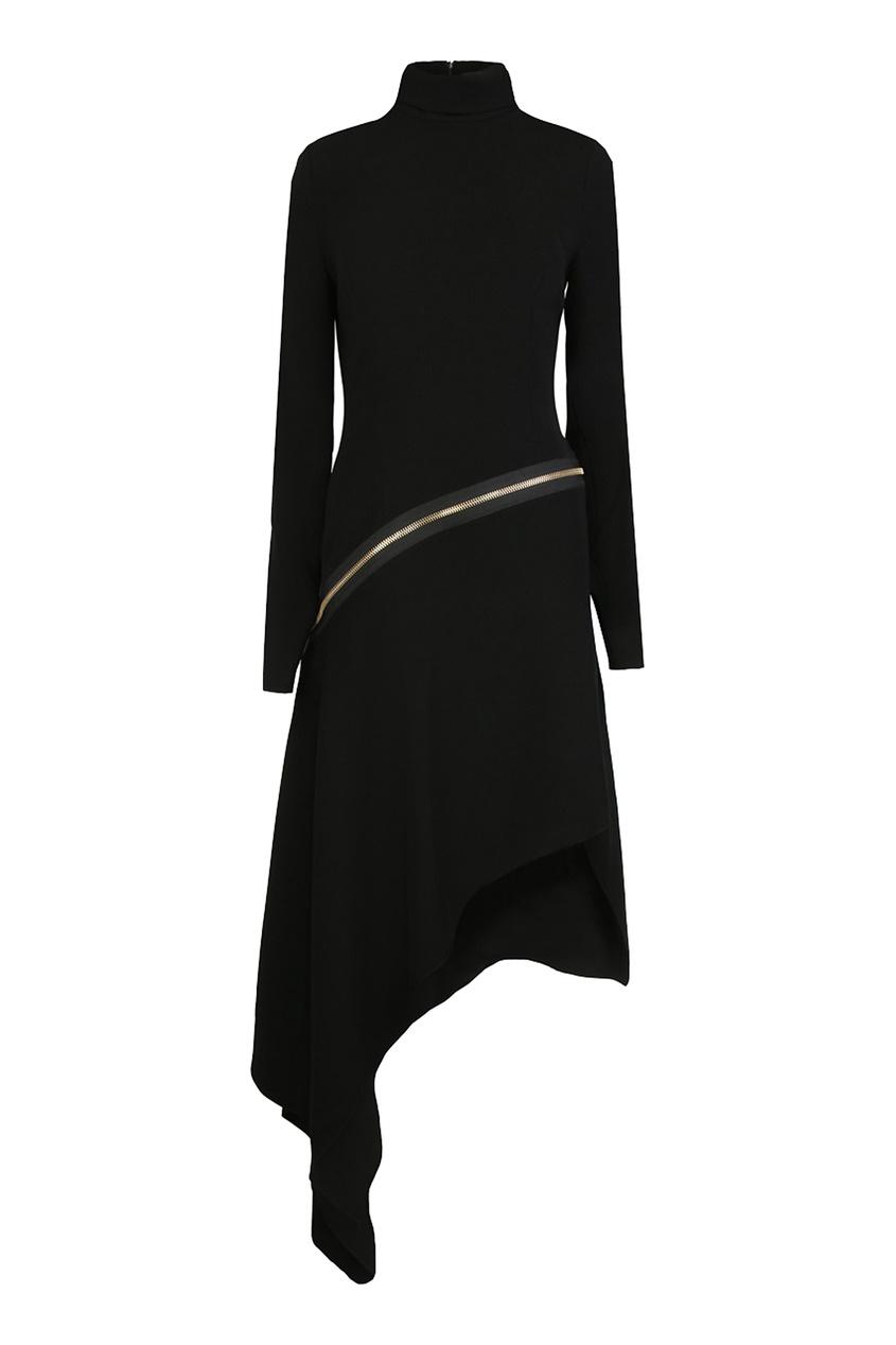 Alexandre Vauthier | черный Черное асимметричное платье | Clouty