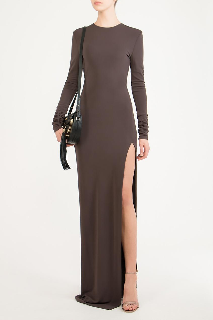 Alexander Terekhov   коричневый Коричневое макси-платье   Clouty