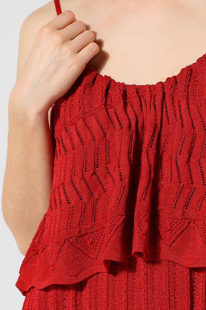 VEZAVENA | красный Красное трикотажное платье | Clouty