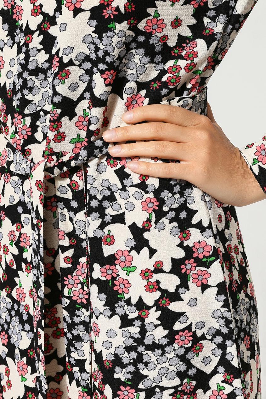 Essentiel Antwerp | Multicolor Цветное платье мини с узором | Clouty