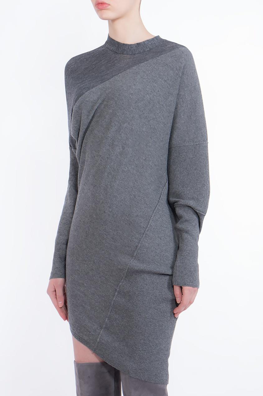 Stella McCartney   серый Серое асимметричное платье   Clouty