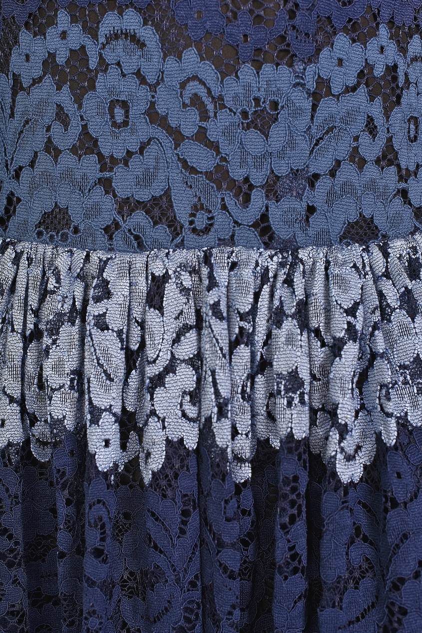 Silvian Heach   синий Синее платье из кружева   Clouty