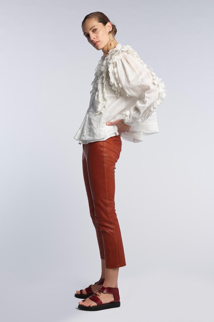Isabel Marant | белый Блузка с кружевом Nell | Clouty