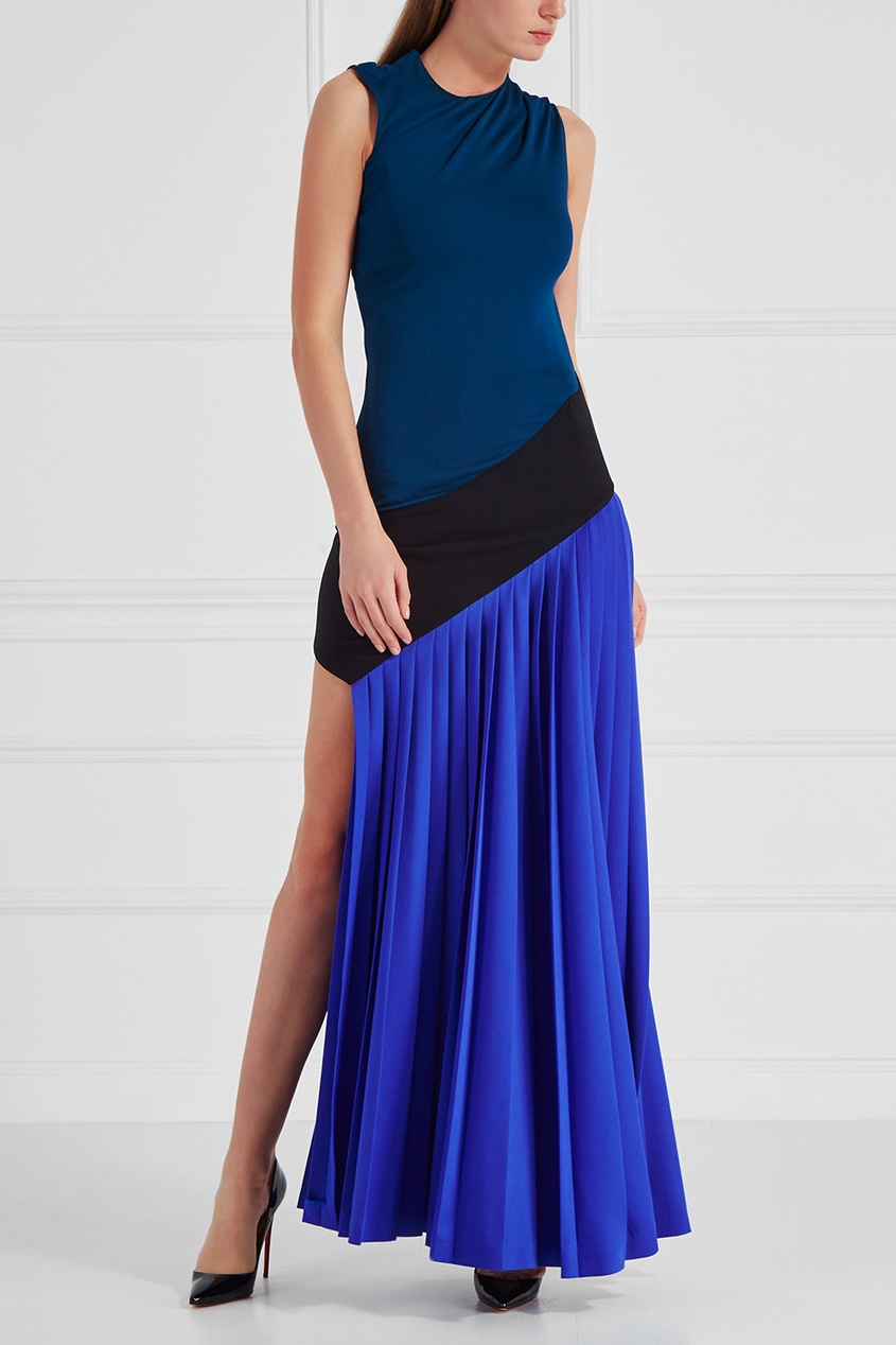 Vionnet   синий Платье в пол   Clouty
