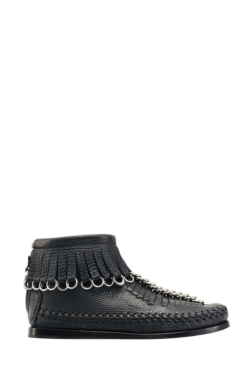 Alexander Wang | черный Ботинки с бахромой | Clouty
