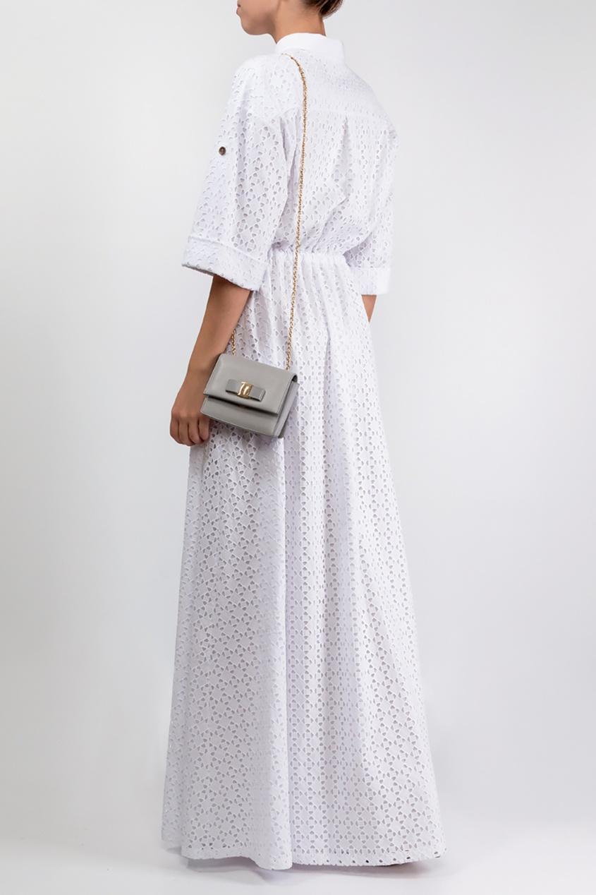 A La Russe | белый Белое платье из вышитого хлопка | Clouty