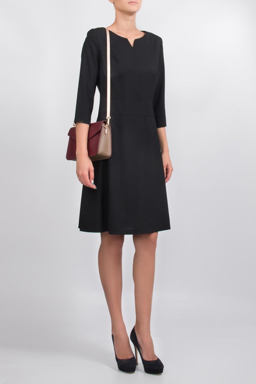 BOSS | черный Приталенное черное платье | Clouty