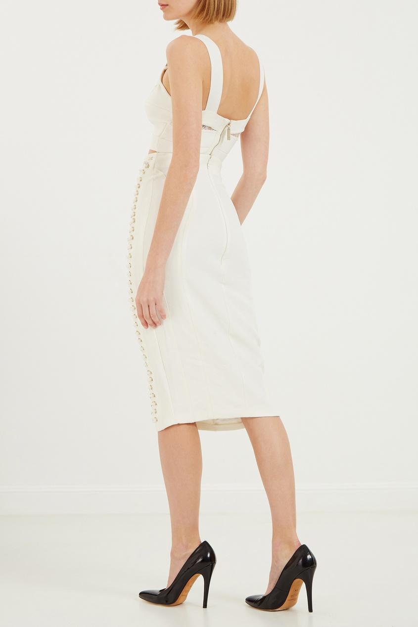 Elisabetta Franchi | белый Белая юбка с отделкой | Clouty