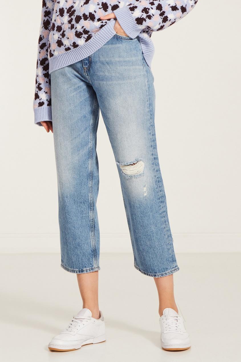 M.I.H Jeans | синий Укороченные джинсы с рваной отделкой | Clouty