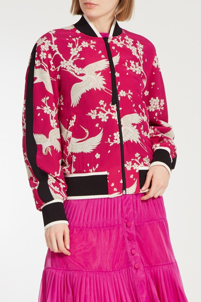 No. 21 | розовый Шелковый жакет | Clouty